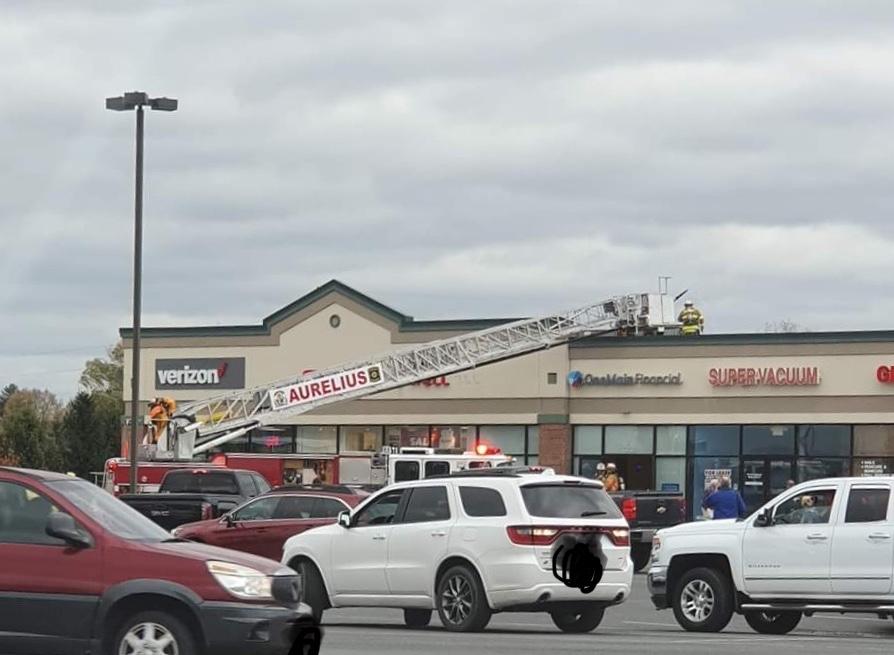 Building fire reported in Aurelius along Clark Street Road