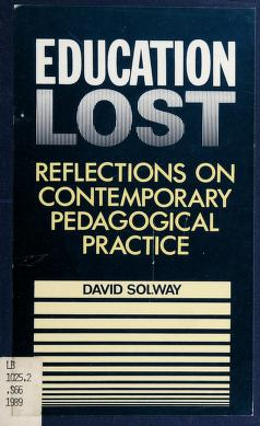 Cover of: Education lost | David Solway