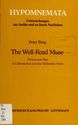 Cover of: The well-read muse | Peter Bing